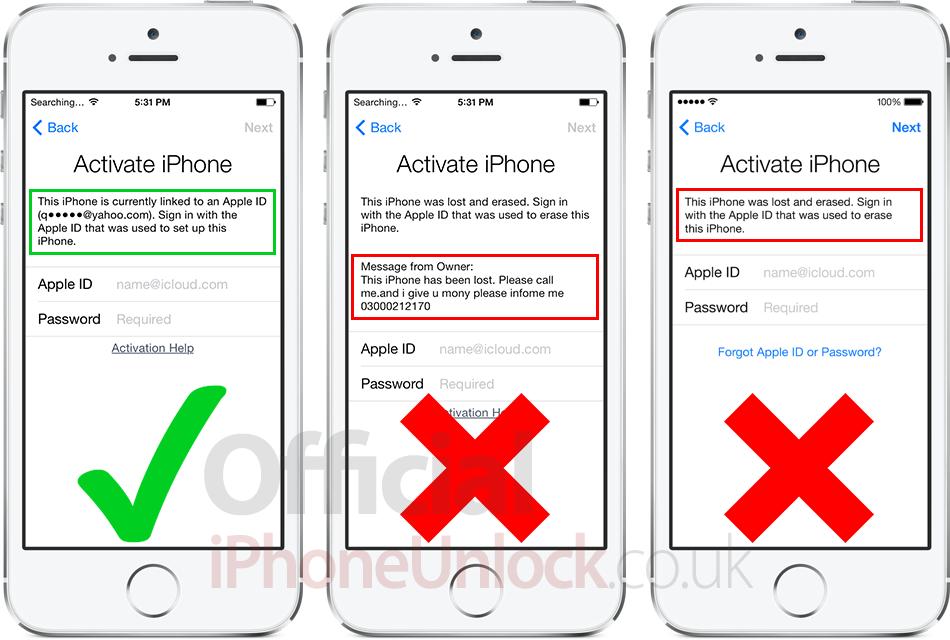 низки найти айфон зависает при активации отчета