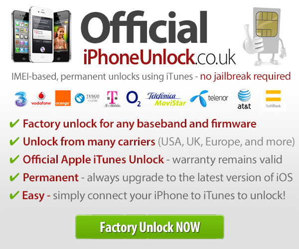 Factory Unlock your iPhone